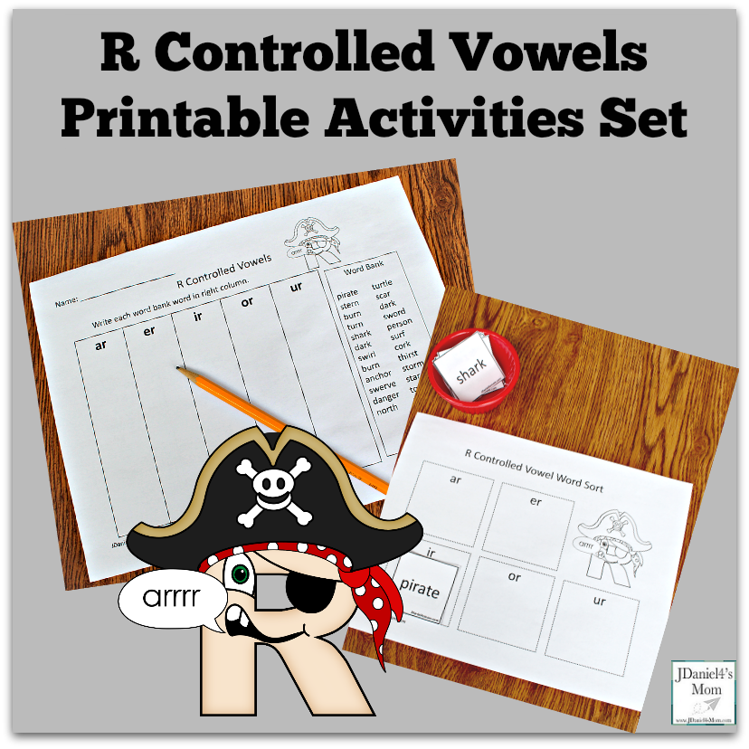 R Controlled Vowels Printable Activities Set - This set contains to free to print learning activities.
