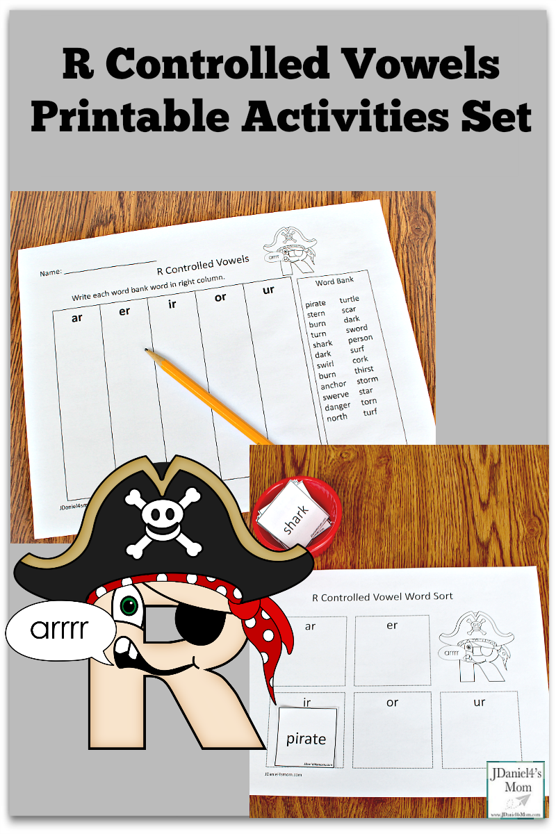 R Controlled Vowels Printable Activities Set - Your children at home or students at school can explore r controlled words as they work on these two free printable activities.