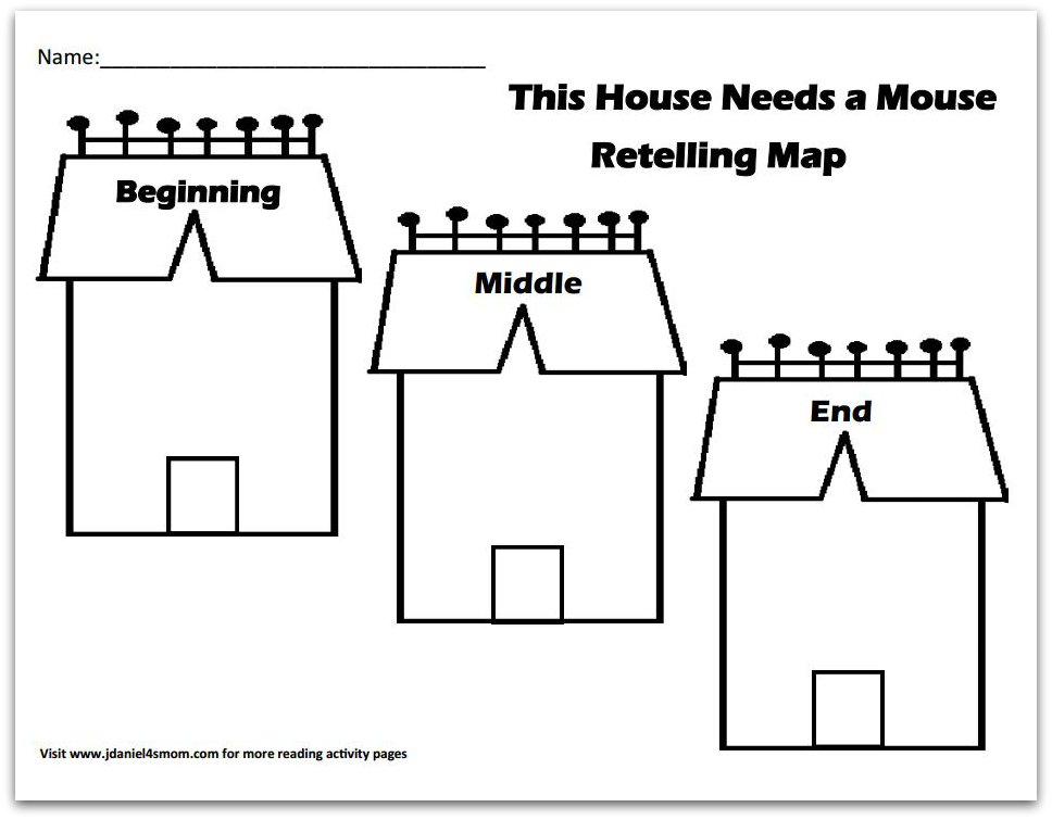 Reading Comprehension- This House Needs a Mouse Story Map