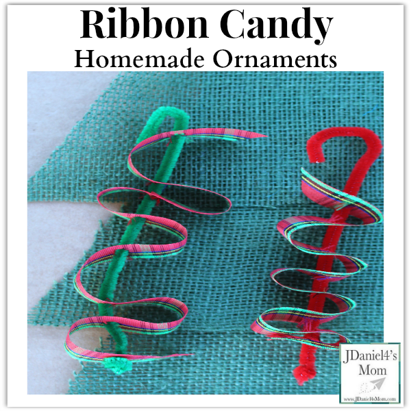 Ribbon Candy Homemade Ornaments- Fun fine motor craft for kids. They will have fun weaving pretty holiday ribbons through pipe cleaners.