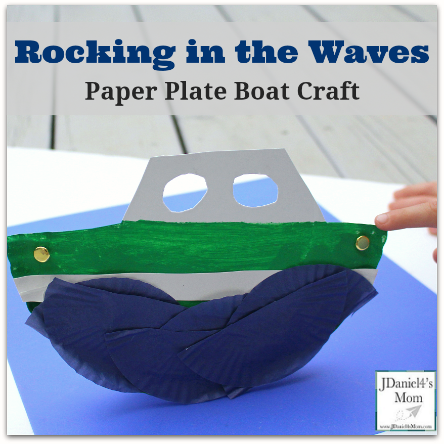 Rocking in the Waves Paper Plate Boat Craft for Kids to Create and Explore.