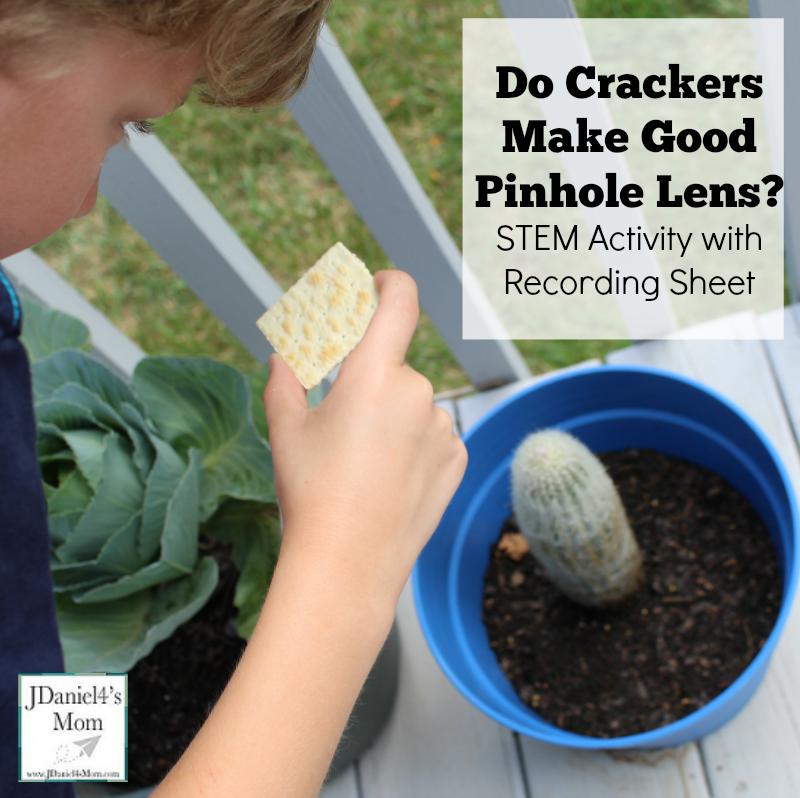 STEM Activity- Do Crackers Make Good Pinhole Lens?