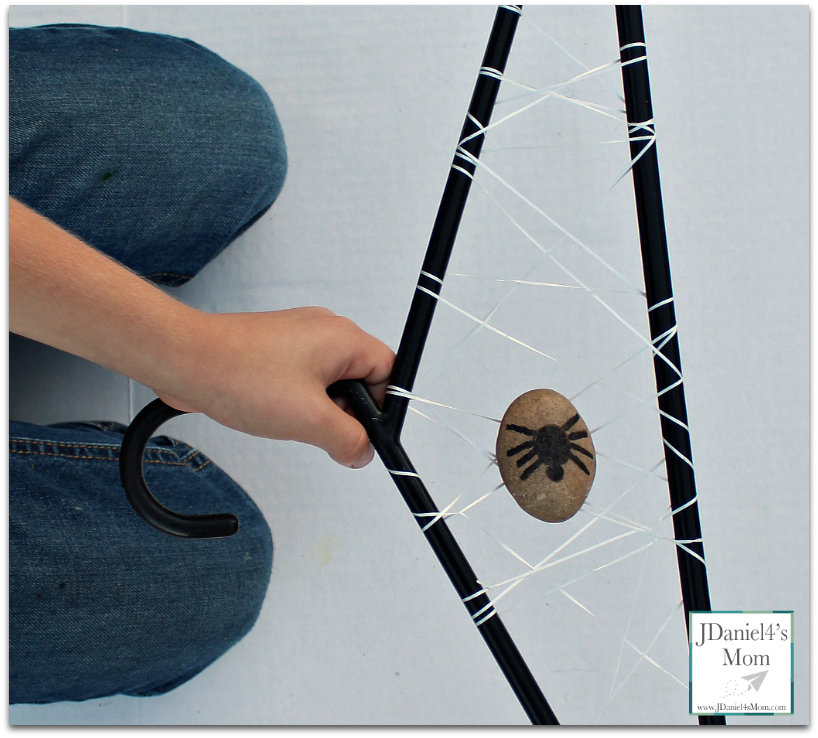 STEM Challenge Spider Web Hanger with Free Printable Task Cards