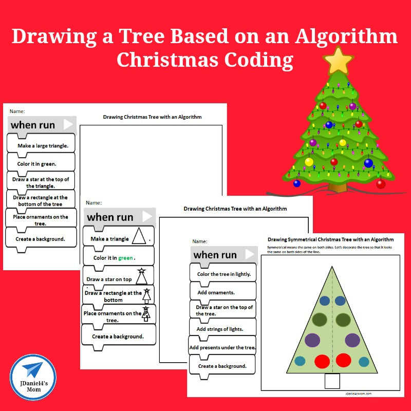 STEM Christmas Coding Drawing a Tree Based on an Algorithm