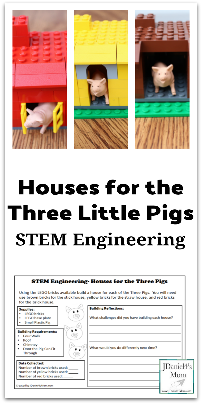 Stem Engineering Houses For The Three Pigs With Lego