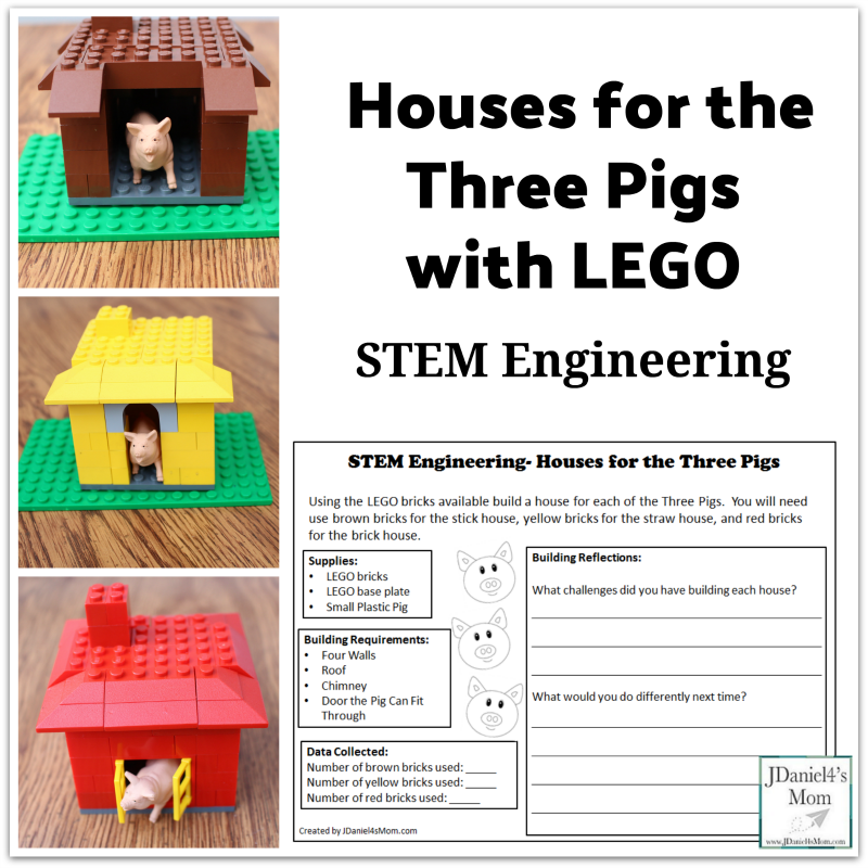 Your students in class or children at home will love this STEM engineering project. It invites them to create houses for the Three Little Pigs. A free recording printable is available for this project.