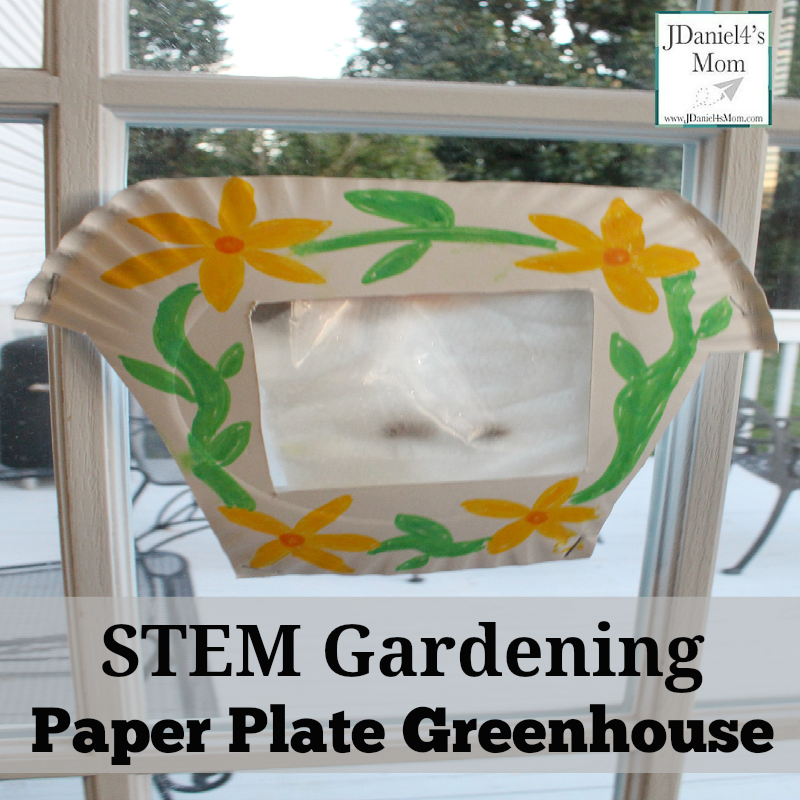 STEM Gardening Paper Plate Greenhouse