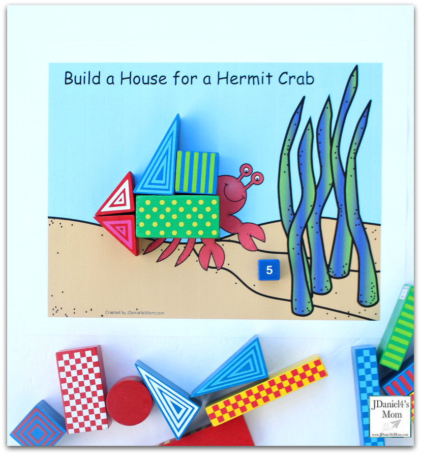STEM Projects with Blocks- Hermit Crab House Five Blocks