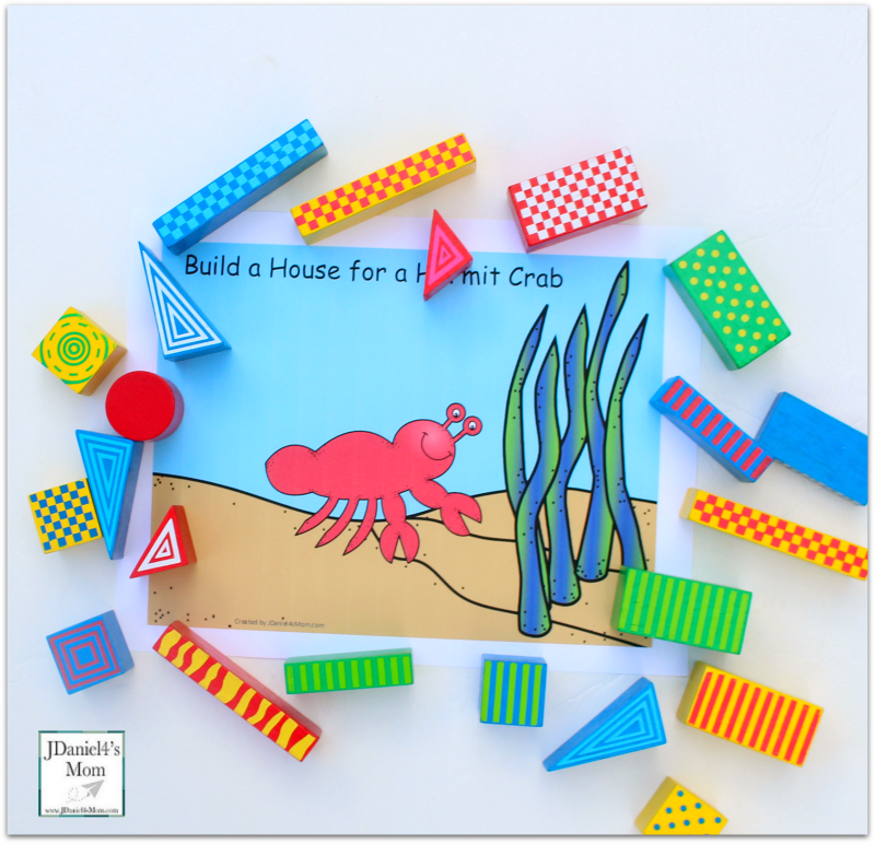 STEM Projects with Blocks- Hermit Crab House Supplies