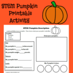 STEM Pumpkin Printable Activity- Children will use pictures and words to describe their pumpkins.