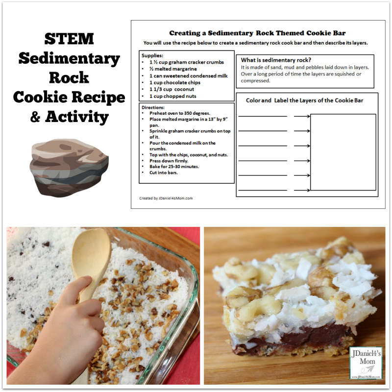 STEM Sedimentary Rock Cookie Recipe and Activity