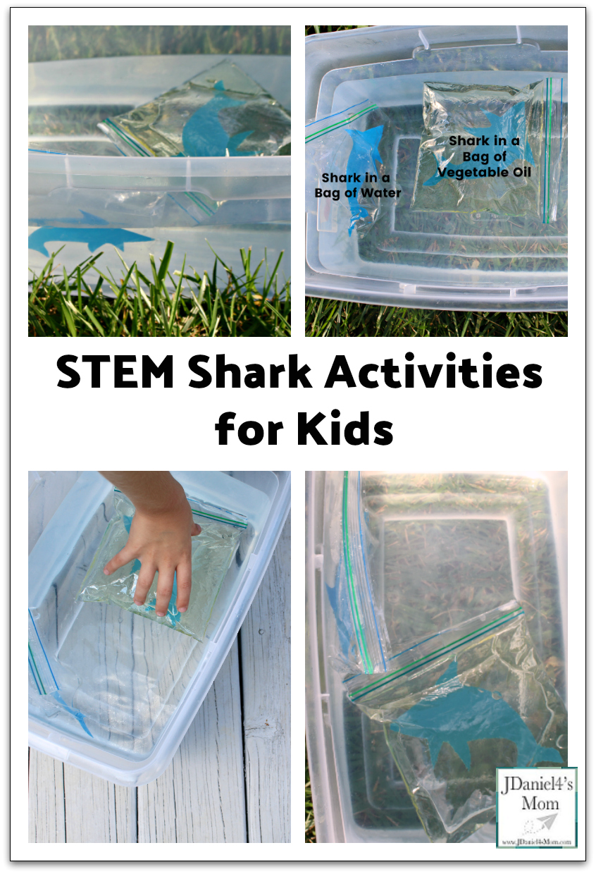 STEM Shark Activities for Kids: How Do Sharks Float? - This series of activities would be great to do during Shark Week or an ocean unit.