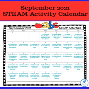 September 2021 STEAM Calendar