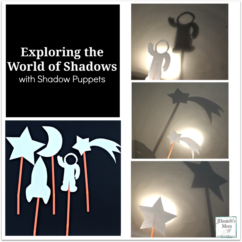 Exploring the World of Shadows with Shadow Puppets - These space themed puppets are a fun way to explore shadows.