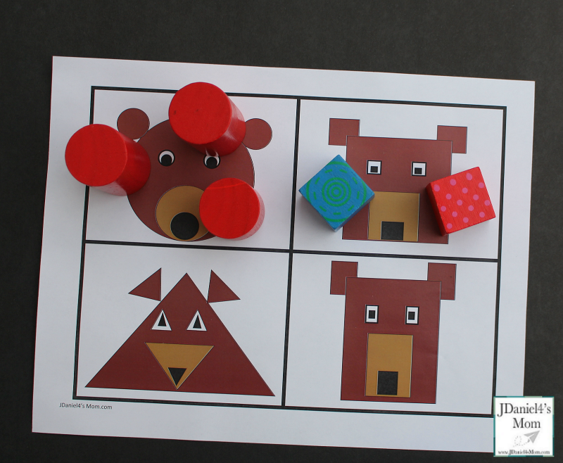 Shape Activity For Preschoolers With A Bear Shape Printable