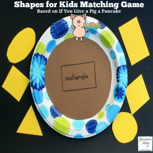 Shapes for Kids Matching Game Based on If You Give a Pig a Pancake