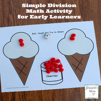 Simple Division Math Activity for Preschoolers