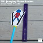 Cool Science Projects -Ski Jumping Straw Rocket : A set of printable ski jumpers is available.