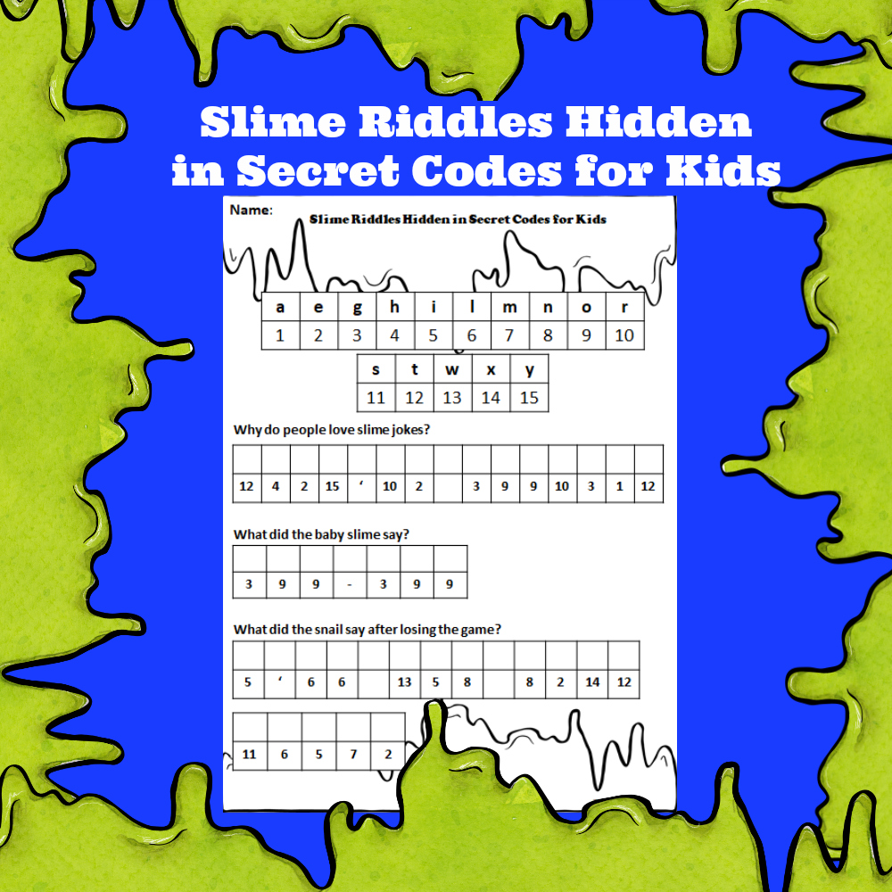Slime Riddles Hidden Secret Codes for Kids
