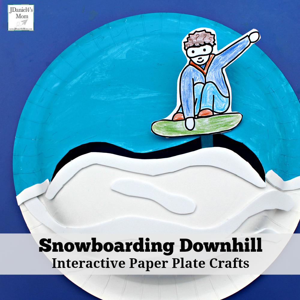 Snowboarding Downhill Interactive Paper Plate Crafts
