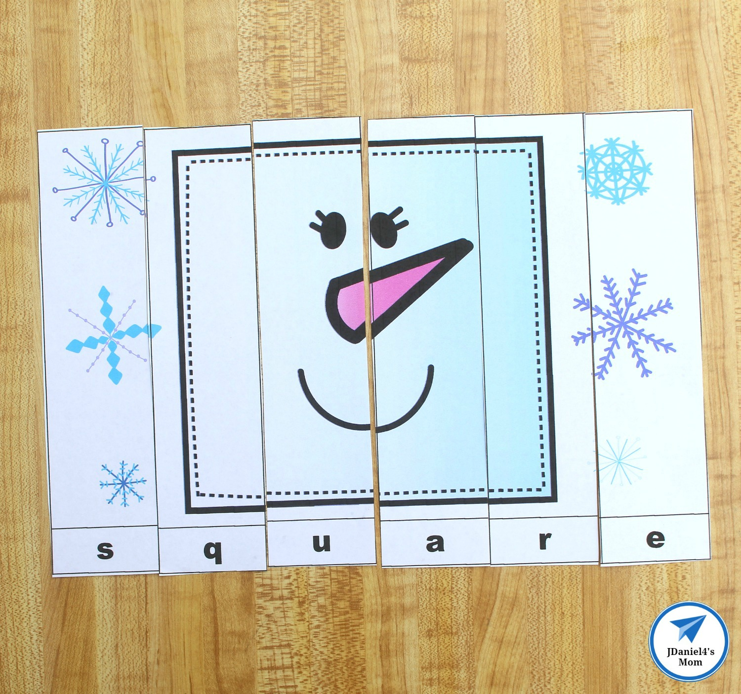 Snowman Shapes For Kids Printable Puzzles Jdaniel4s Mom