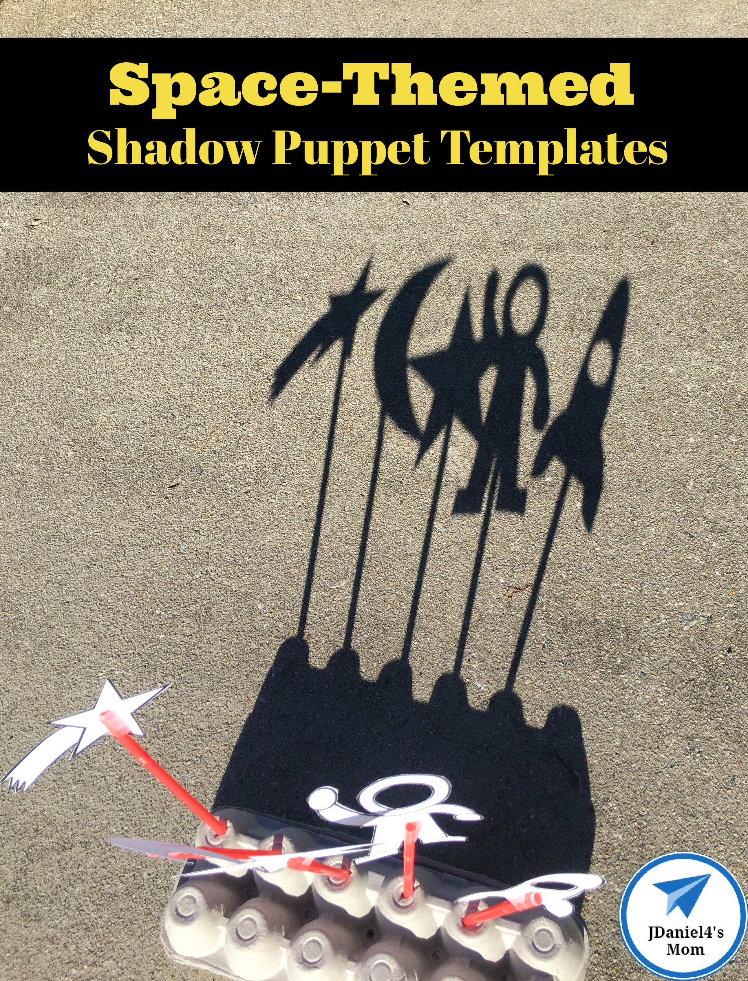 Space-Themed Shadow Puppet Templates