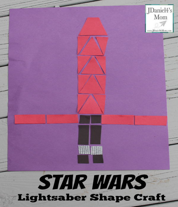 Star Wars Light Saber Shape Craft