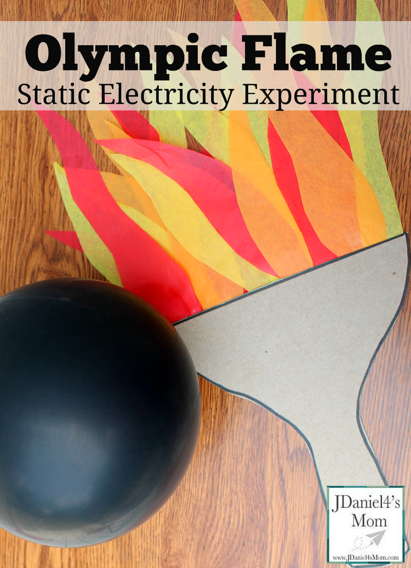 Static Electricity Olympic Flame Experiment - It is such fun to make the flames flicker!