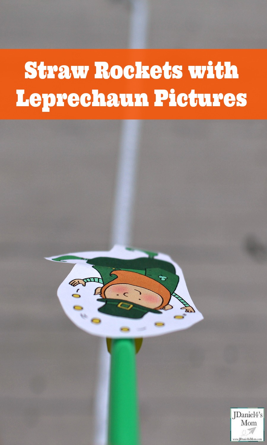 Straw Rockets with Leprechaun Pictures- This is a fun STEM activity. It is a great way to explore measurement and breath control. Children at home and students at school will have fun with this activity.  It would great St. Partricks Day science experiment or math activity.
