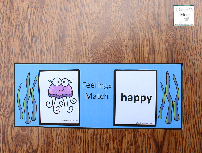 Teaching Feelings with Jellyfish - Card Match