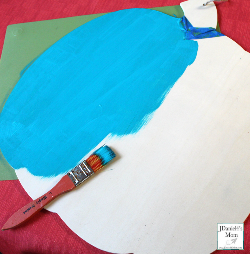 Teal Pumpkin Project That is Easy for Families to Spot - Large Pumpkin Painted