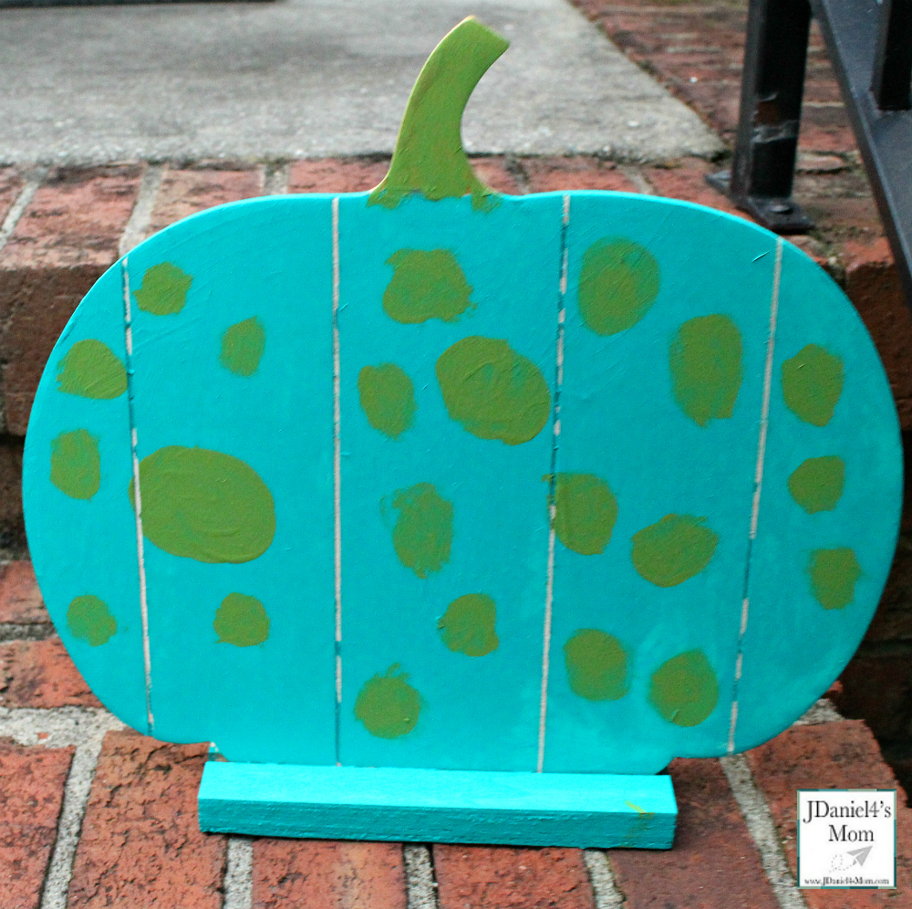 Teal Pumpkin Project That is Easy for Families to Spot - Small Pumpkin