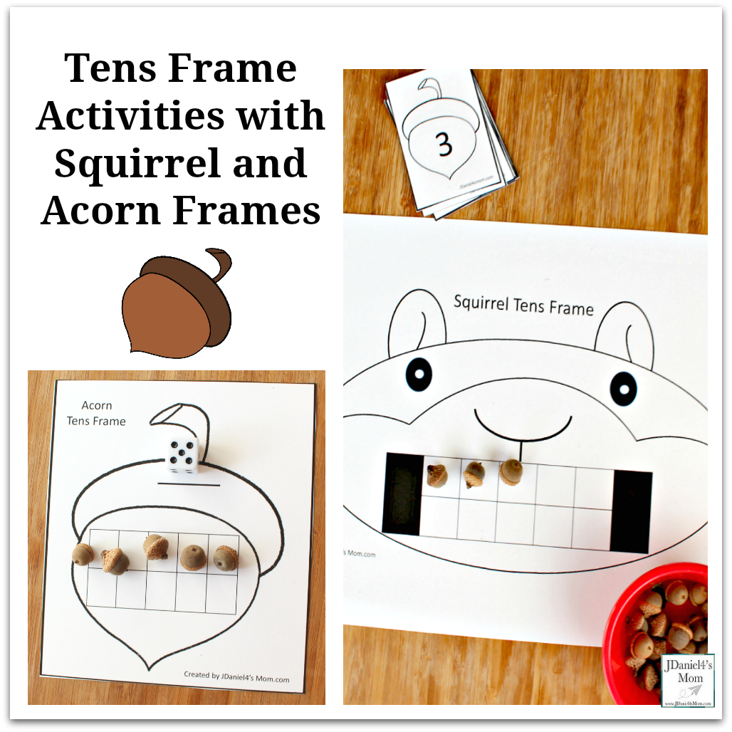 Ten Frame Activities with Squirrel and Acorn