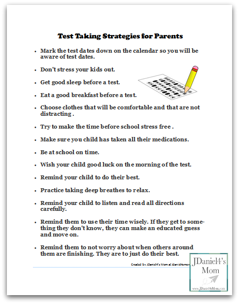 Test Taking Tips and Strategies for Parents