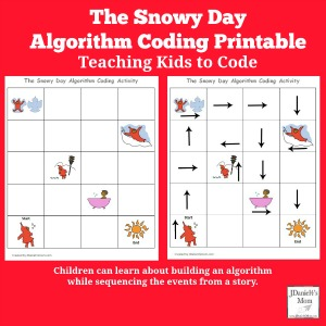 Teaching Kids to Code – The Snowy Day Algorithm Coding Printable