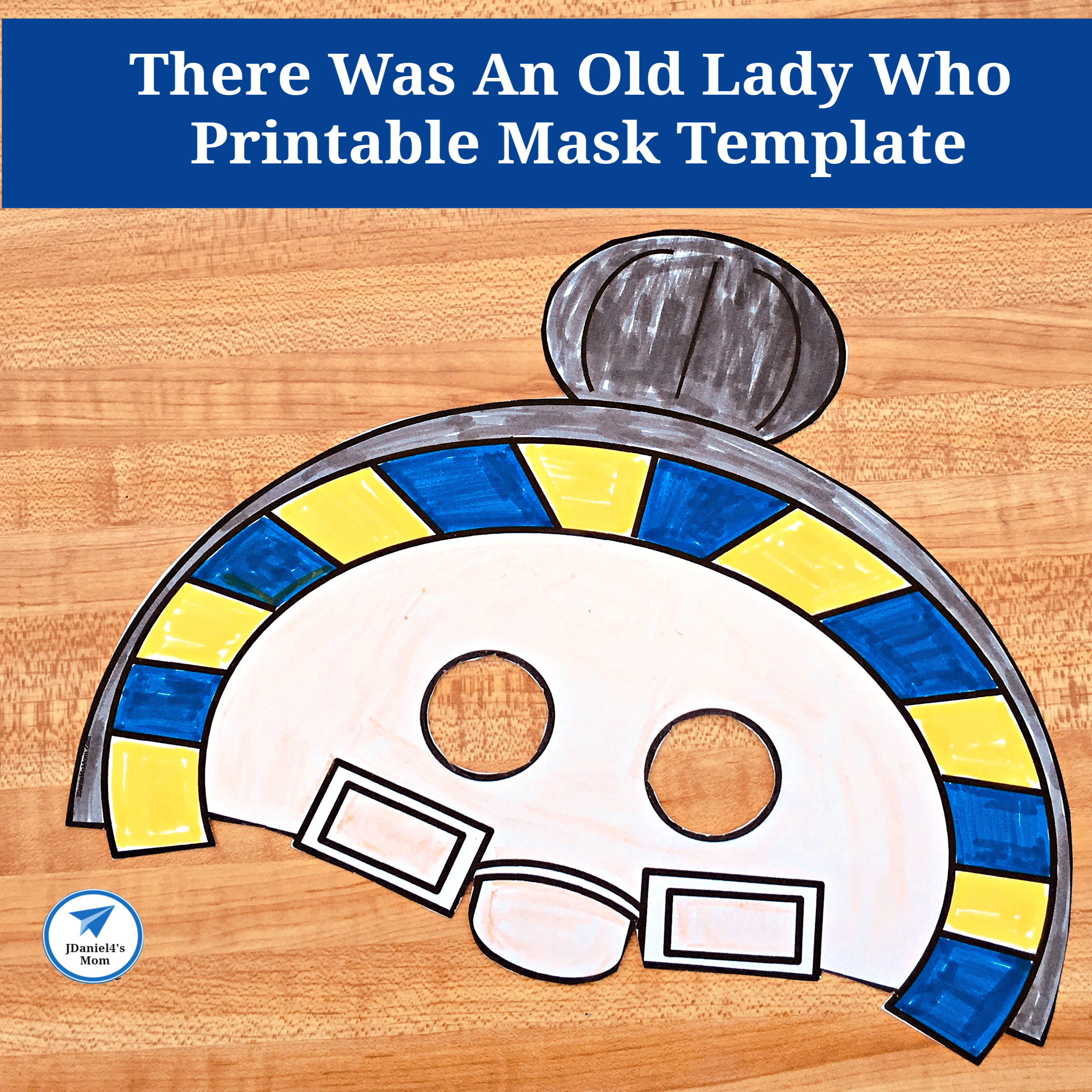 There Was An Old Lady Who Printable Mask Template