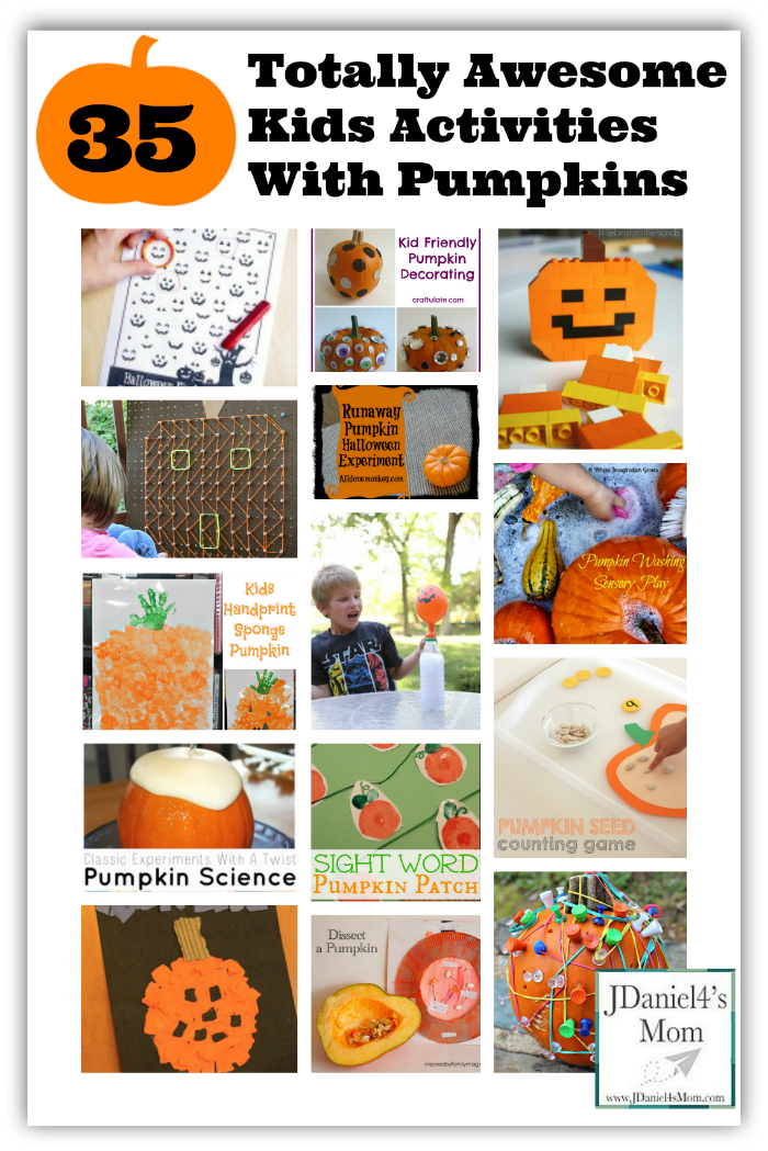35 Totally Awesome Kids Activities with Pumpkins