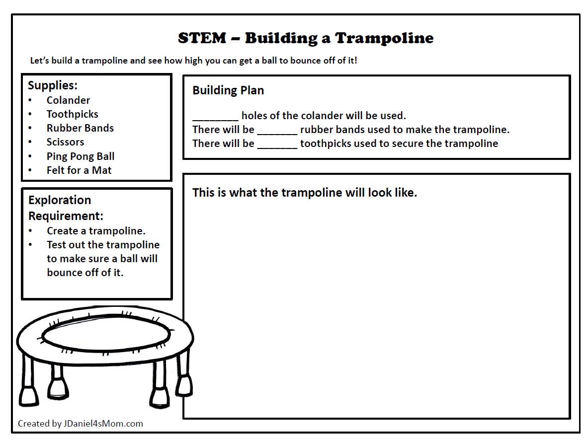 STEM Challenge- Building a Colander Trampoline Planning Document