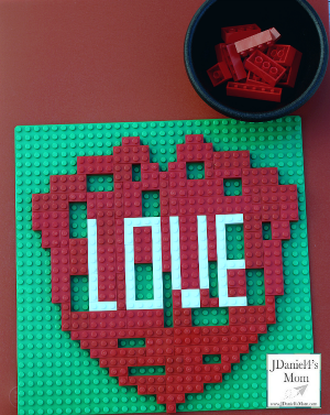 Valentine Ideas- LEGO Heart Puzzle