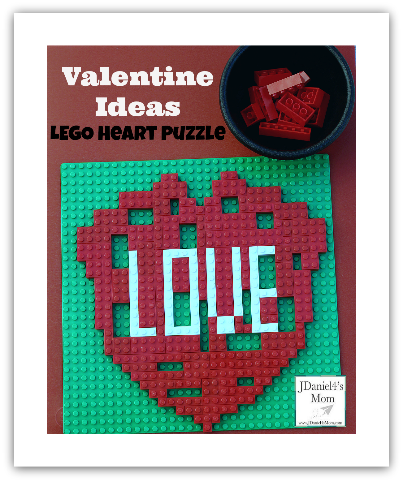 Valentine Idea LEGO Heart Puzzle