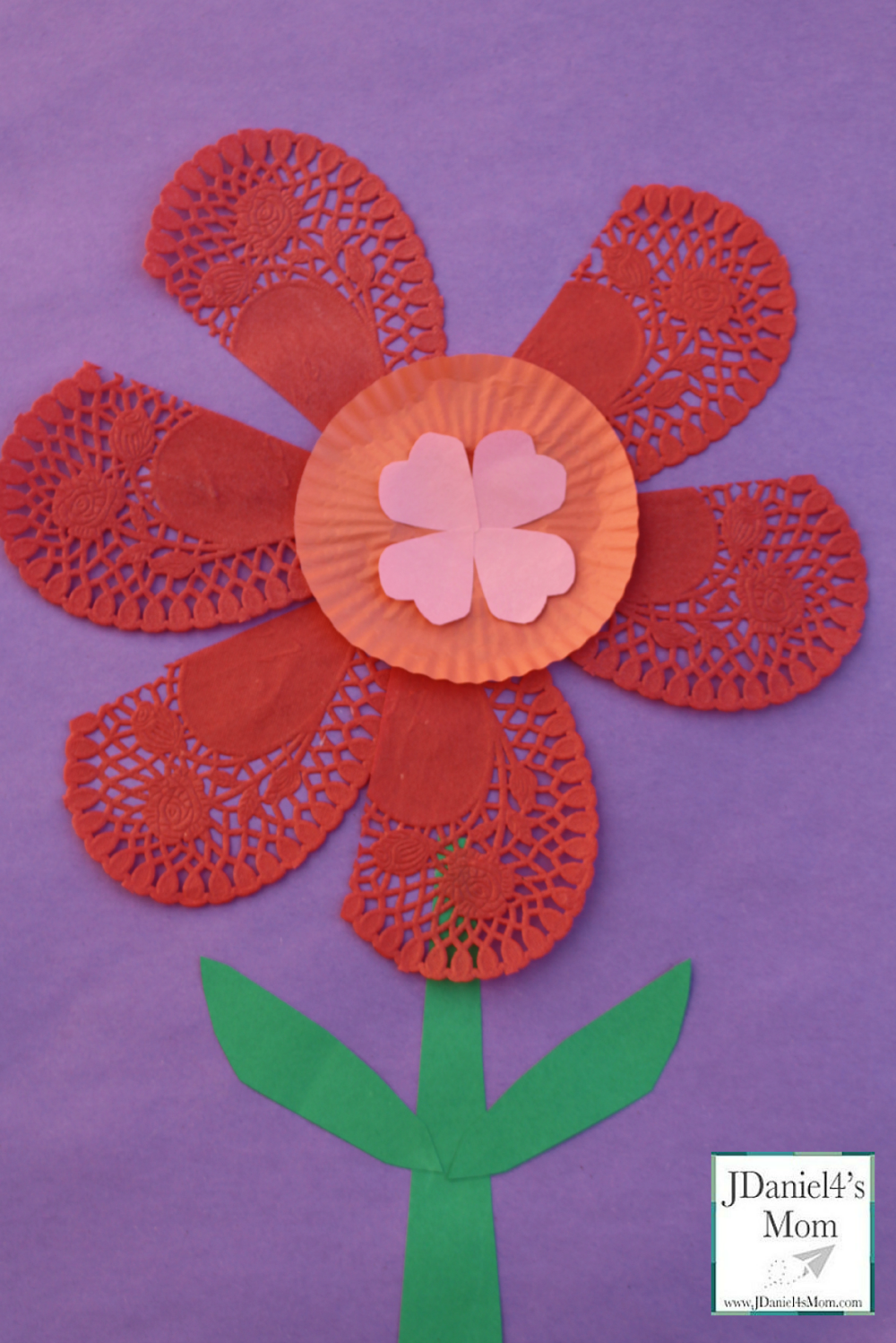 Valentine Ideas- Flower Craft for Kids