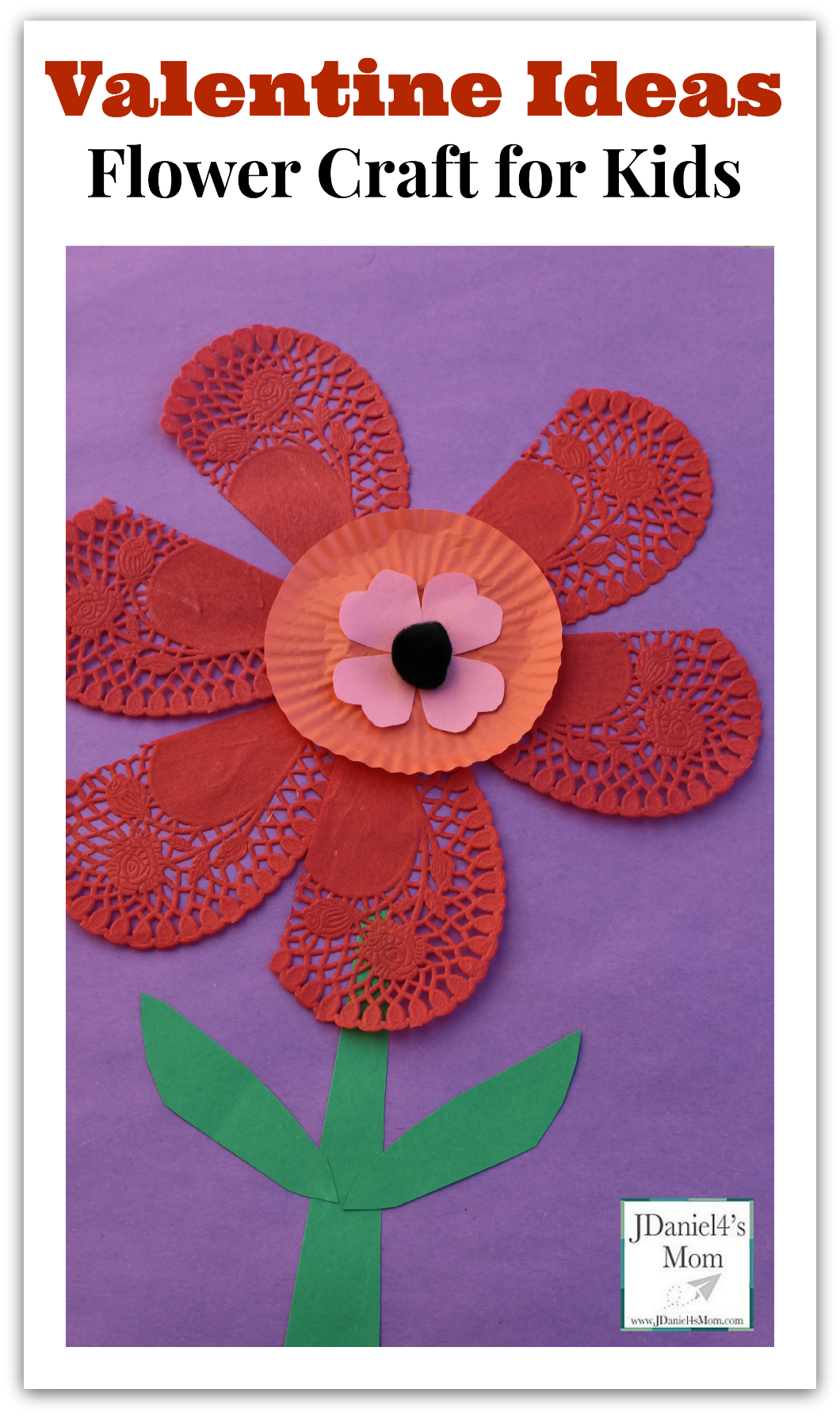 Valentine ideas flower craft for kids for Crafts for valentines day ideas