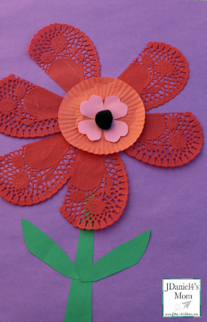 Valentine Ideas- Flower Craft for Kids (Featured)