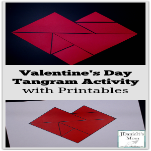 Valentine's Day Tangram Activity with Printables