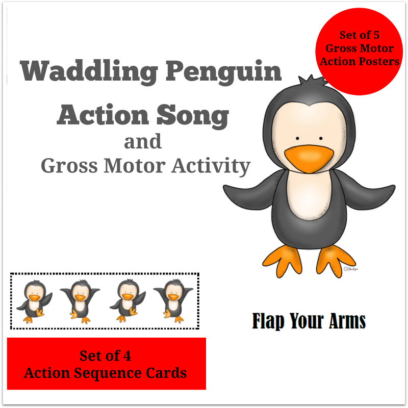 Waddling Penguin Action Song and Gross Motor Activities