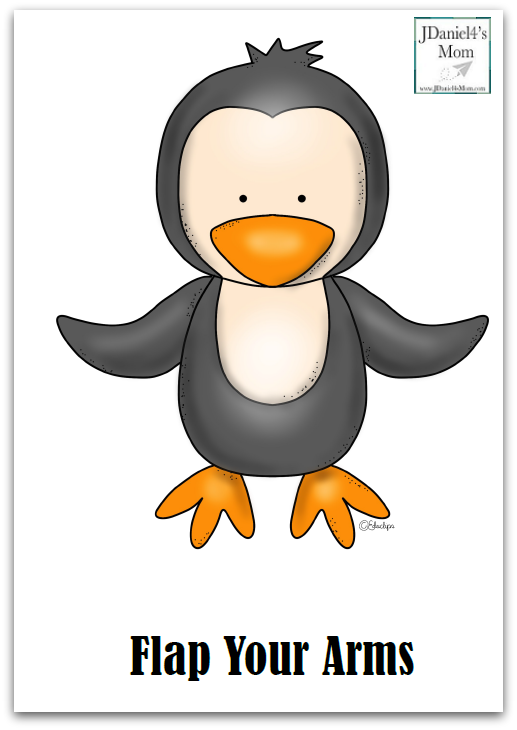 Waddling Penguin Action Song and Gross Motor Activity- This set contains 5 gross motor action poster and 4 gross motor sequence cards.
