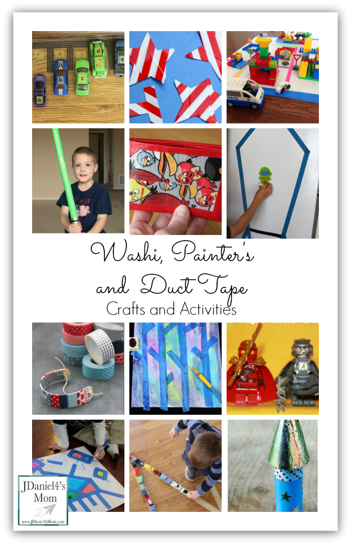 Washi, Painter's and Duct Tape Crafts and Activities