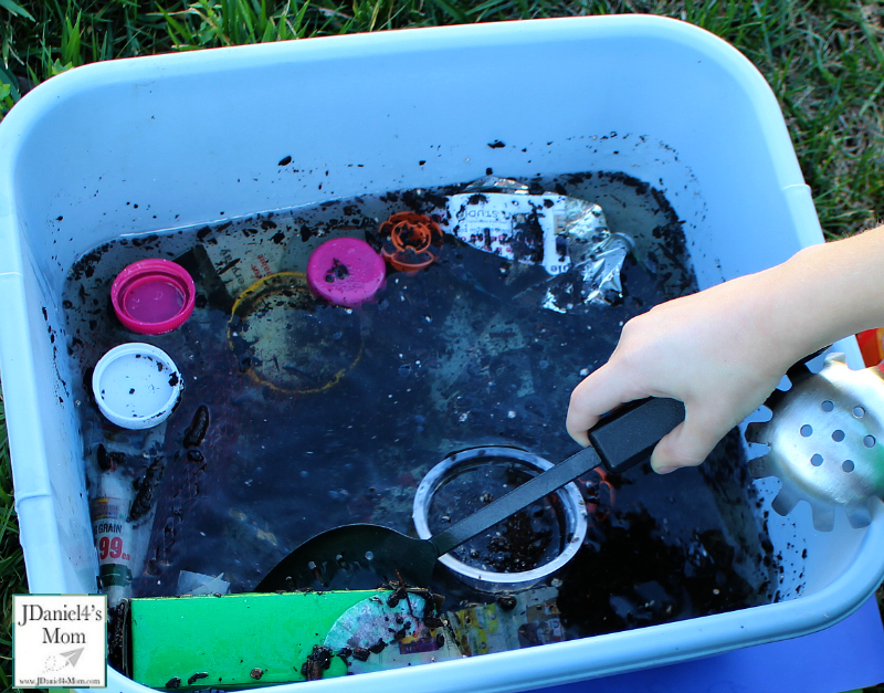 Water Pollution Experiments for Kids- Slotted Spoon