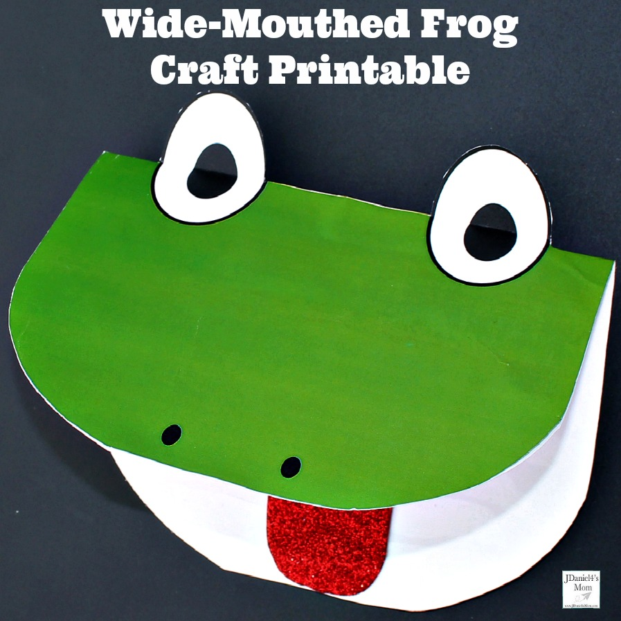 Wide-Mouthed Frog Craft Printables