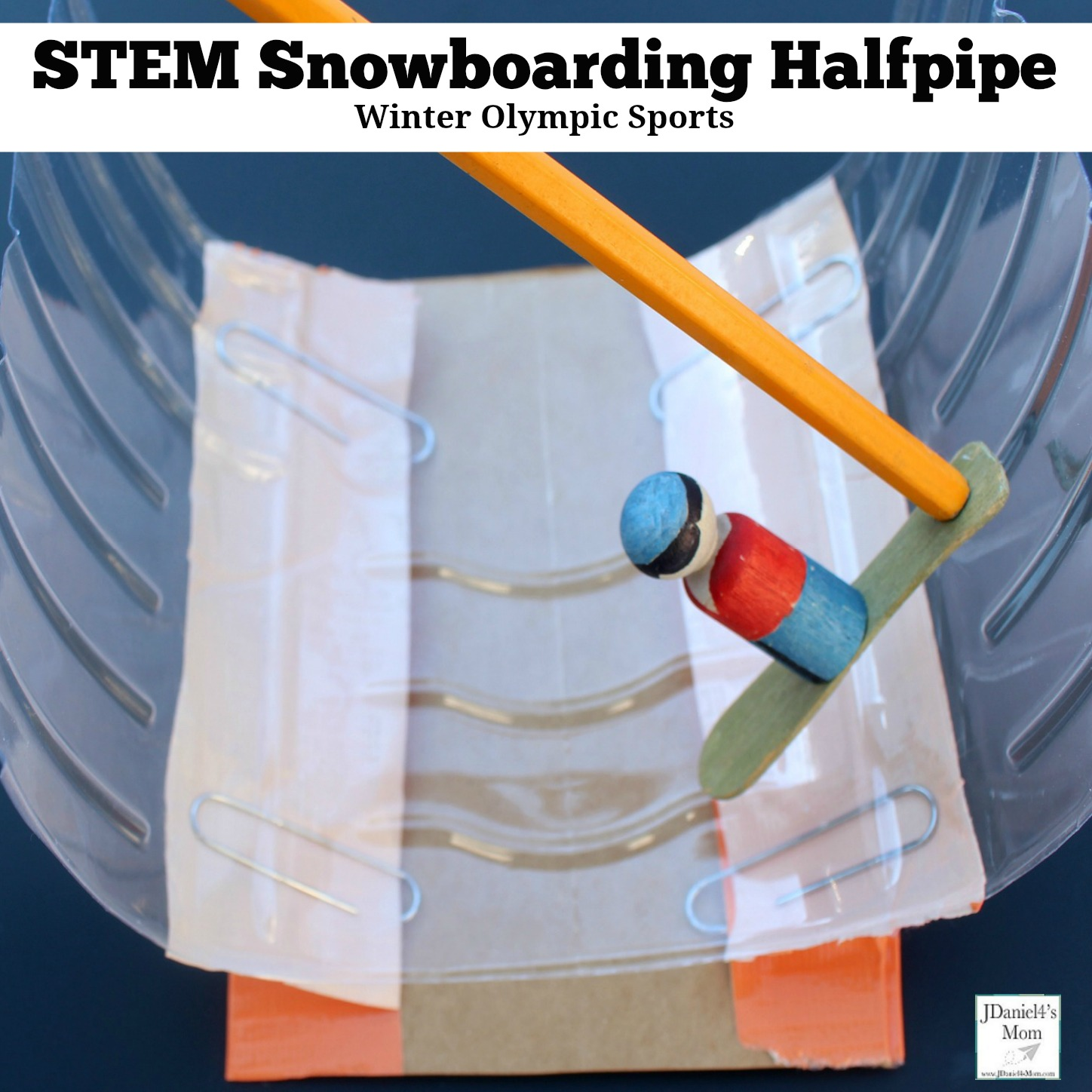 Winter Olympic Sports - STEM Snowboarding Halfpipe : This is a fun STEM activity that can be used for creative play.